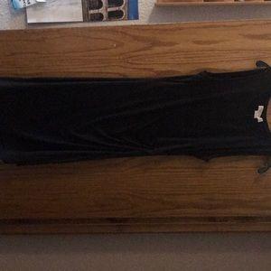 Michael Kors  Draped -side Sleeveless Black Dress